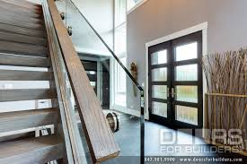 Exterior Door Insulation by Custom Modern Wood Double Door Insulated Privacy Glass Interior