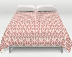 coral duvet cover coral bedding coral bed cover coral