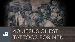 40 jesus chest tattoos for