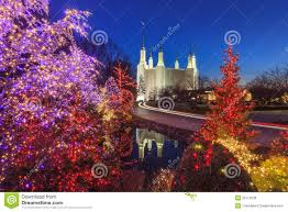 mormon temple festival of lights holiday lights at washington dc lds mormon temple stock image