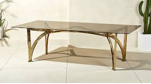 Glass Desk Table Aqueduct Smoked Glass Dining Table Cb2