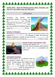 volcano worksheets free worksheets library download and print