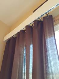Curtain Hanging Ideas Curtains Vertical Blinds With Curtains Covering Decorating