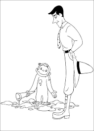 kids coloring pages curious george coloring pages