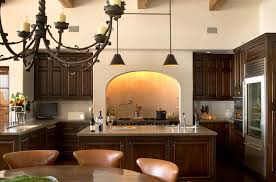Modern American Kitchen Design Stylish Modern American Colonial Decor With Iron Chandelier And