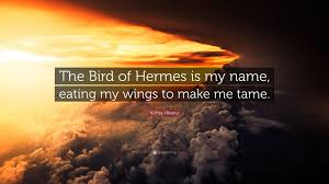 kohta hirano quote the bird of hermes is my name my wings