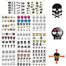 11 designs nail stickers colorful skull image nail