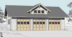 craftsman style garage plans garage plans craftsman style three car garage with dormer plan