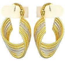 creole earrings silver gold wave twist hoop creole earrings fashion costume jewellery
