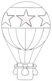 air balloon coloring picture printables