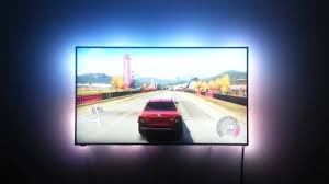 ambient light behind tv ambiscreen stand alone ambient display back lighting for any