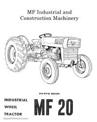 massey ferguson model mf20 mf25 mf30 industrial wheel tractor