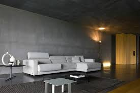 Captivating Living Room Designs With Concrete Wall Rilane - Concrete walls design