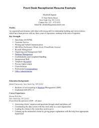 receptionist resume templates front desk receptionist resume free resume templates 2018