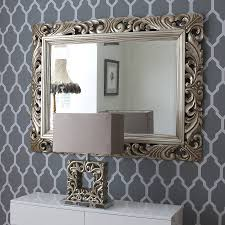 carved wood gilt silver mirror by decorative mirrors
