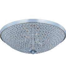 Flush Ceiling Shower Head by Maxim 39873bcps Glimmer 9 Light 22 Inch Plated Silver Flush Mount