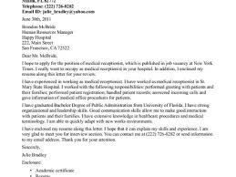 medical receptionist cover letter my document blog 34 cover letter