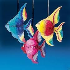 luau tropical fish decorations