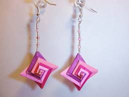 origami earrings spiral origami earring by db31415 on deviantart