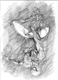 spider man sketch by eric meador by meador on deviantart