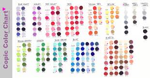 copic marker color chart by nao ren on deviantart