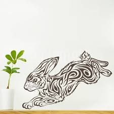 wall decals tribal rabbit animal wall stickers