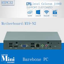pc bureau wifi intégré intégré ordinateurs de bureau mini pc j1900 intel cpu 2 4