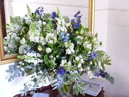 white and blue floral arrangements july 2013 botanica flowers