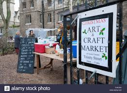 the christmas art and craft market at all saints gardens cambridge