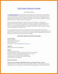 some exle of resume resume format for call center lovely resume exles resume