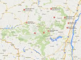 Blue Ridge Mountains Map Maps Of New York Nyc Catskills Niagara Falls U0026 More
