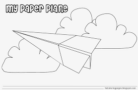 paper airplane coloring pages paper airplane coloring