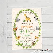 Home Depot Houston Tx 77001 Jungle Baby Shower Invitation Birthday Cute Safari Animals