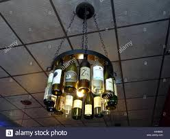 From A Chandelier Hanging Wine Bottles Stock Photos U0026 Hanging Wine Bottles Stock