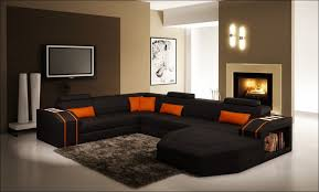 Black Microfiber Sectional Sofa Furniture Wonderful Black Leather Sectional With Ottoman Fabric
