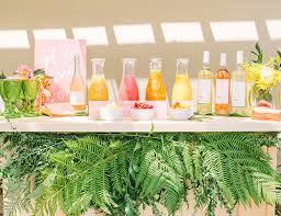 brunch bridal shower ideas pink yellow tropical bridal shower brunch inspired by this