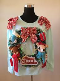 novelty sweater rudolph and clarice winter