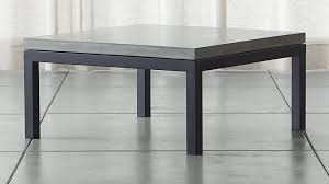 square gray wood coffee table parsons concrete top dark steel base 36x36 square coffee table