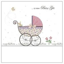 congratulations on new card a new baby girl congratulations card