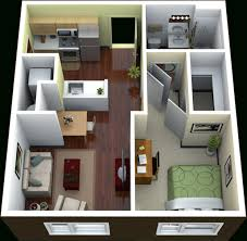 1 bedroom house plan design 3d picture 50 3d floor plans lay out