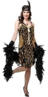 20s Halloween Costumes Black Gold Teardrop Mirror Sequin Flapper Costume Candy