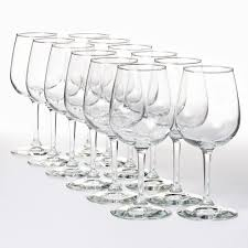 network wine party 12 pc wine glass set