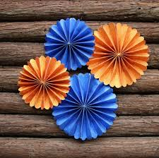 Royal Prince Decorations Paper Rosettes Paper Fans Pinwheel Backdrop Hanging Party