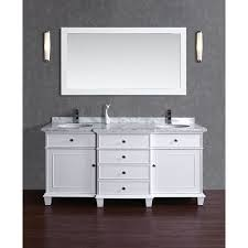 60 bathroom mirror stufurhome cadence white 60 inch double sink bathroom vanity with