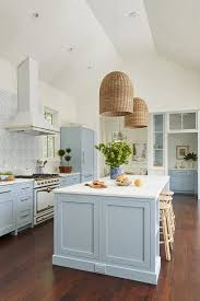 light blue cabinets kitchen 25 stylish and inspiring blue and white kitchens digsdigs