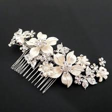rhinestone hair bridal hair comb wedding hair comb bridal headpiece flower