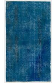 Vintage Overdyed Turkish Rugs Blue Color Vintage Overdyed Handmade Turkish Rug Vintage Overdyed