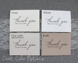 custom script personalized wedding thank you cards