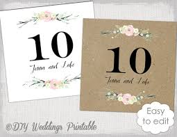 wedding table numbers template rustic table numbers template rustic flowers