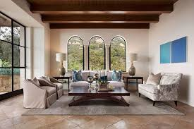 santa barbara style home plans montecito transitional estate mediterranean living room santa
